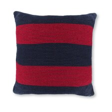 "18"" Crew Striped Knit Decorative Throw Pillow"