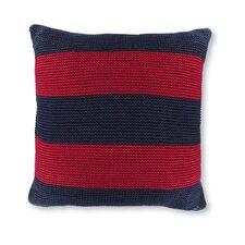 "18"" Crew Striped Knit Decorative Throw Pillow"