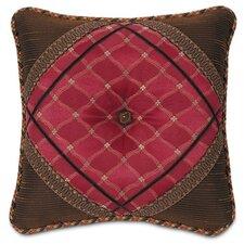 Hayworth Sadie Garnet Diamond Tufted Throw Pillow