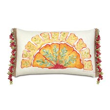 Portia Hand-Painted Motif Lumbar Pillow
