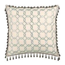 Kira Verlaine Beaded Trim Throw Pillow