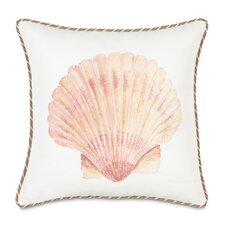 Caicos Hand-Painted Scallop Shell Throw Pillow