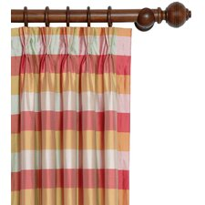 Beckford Silk Plaid Three-Finger Silk Pleated Single Curtain Panel