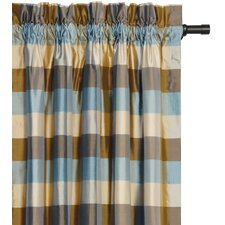 Beckford Silk Plaid Cotton Rod Pocket Single Curtain Panel