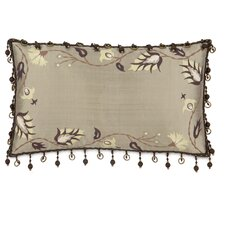 Michon Serico Hand-Painted Silk Lumbar Pillow