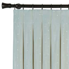 Iris Silk Pleated Single Curtain Panel