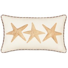 Caicos Hand-Painted Starfish Lumbar Pillow
