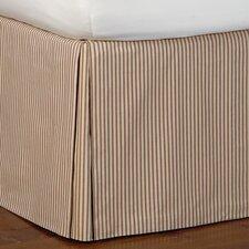 Heirloom Ticking Stripe Pleated Bed Skirt