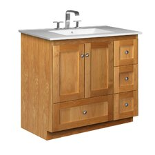 "Simplicity 37"" Single Bathroom Vanity Set"