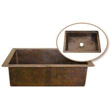 """Hammerwerks 32.38"""" x 21.63"""" ChaletChef Single Bowl Kitchen Sink"""