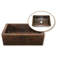 """Hammerwerks 32.38"""" x 21.63"""" Kuchen Farmhouse Single Bowl Kitchen Sink"""