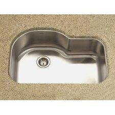 """Medallion Designer 31.5"""" x 17.94 - 21"""" Undermount Offset Single Bowl Kitchen Sink"""