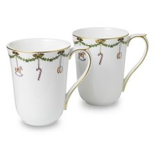 Star Fluted 11 oz. Mug (Set of 2)