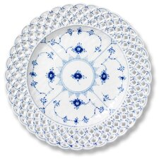 "Blue Full Lace 9.75"" Luncheon Plate"