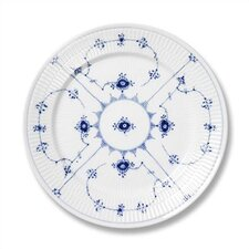 "Blue Fluted Plain 8.75"" Salad / Dessert Plate"