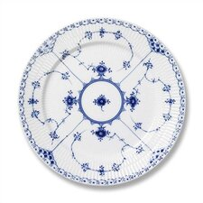 """Blue Fluted Half Lace 10.75"""" Dinner Plate"""