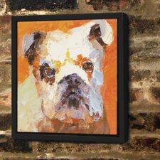 English Bulldog Framed Painting Print
