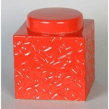 Kashmir Treat and Food Pet Canister in Red