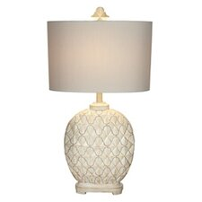 "Kathy Ireland Essentials 31"" H Table Lamp with Drum Shade"