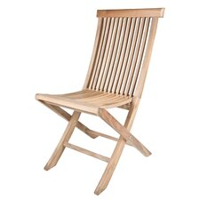 Solid Teak Classic Folding Dining Side Chairs (Set of 2)