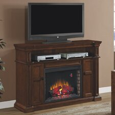 Wyatt TV Stand with Infared Electronic Fireplace Insert