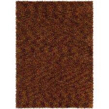 Blossom Textured Shag Red/Orange Area Rug