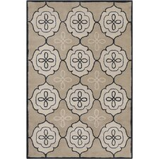Allie Hand Tufted Wool Tan/Cream Area Rug