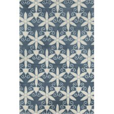 Allie Hand Tufted Wool Blue/Cream Area Rug