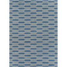 Davin Hand Tufted Rectangle Contemporary Aqua/Cream Area Rug