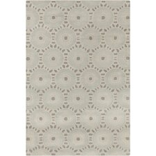 Allie Hand Tufted Wool Cream/Light Blue Area Rug
