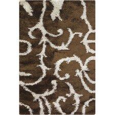 Fola Brown/White Area Rug