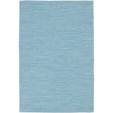 India Blue Solid Area Rug