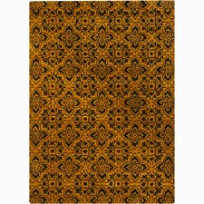 Bajrang Gold/Yellow Floral Area Rug