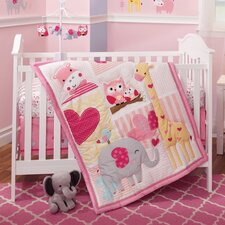 Bubblegum Jungle 3 Piece Crib Bedding Set
