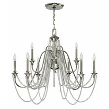 Cortina 9 Light Candle Chandelier