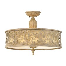 Carabel Semi Flush Foyer Pendant