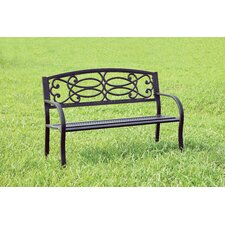 Swirling Romance Outdoor Garden Bench