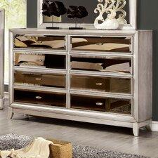 Strollini 8 Drawer Dresser with Mirror