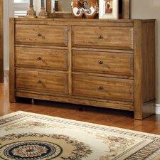 Botellier 6 Drawer Dresser with Mirror