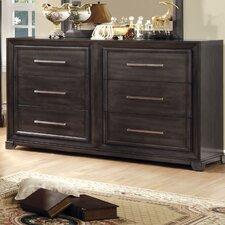 Peterson 6 Drawer Dresser with Mirror