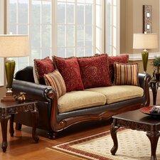 Philip Cotton / Leatherette Sofa