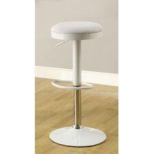 Adjustable Height Swivel Bar Stool with Cushion & Chrome Leg (Set of 2)