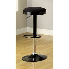 Adjustable Height Swivel Bar Stool with Cushion & Chrome Leg (Set of 2)