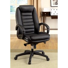 Jun Hight-Back Leatherette Executive Chair with Arms