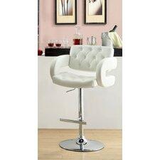 Lesticia Adjustable Height Swivel Bar Stool with Cushion
