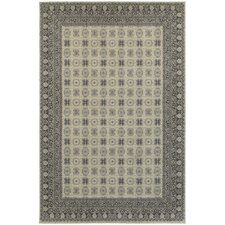 Paula Bordered Medallion Ivory/Grey Area Rug