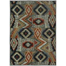 Agave Patchwork Lodge Blue/Multi Area Rug