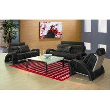 Arthur 3 Piece Leather Sofa Set