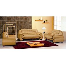 Westminster 3 Piece Leather Sofa Set