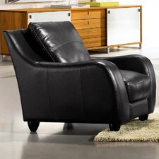 Napoli Leather Chair in Black